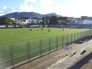 Lo stadio 'V. Rispoli' di Ischia