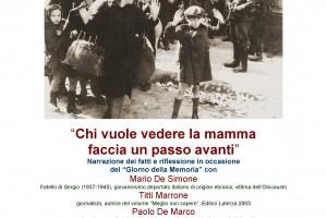 GIORNATA DELLA MEMORIA, CASAMICCIOLA RICORDA LE VITTIME DELL'OLOCAUSTO