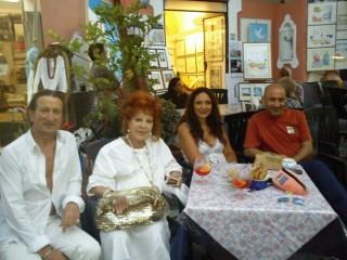 Silvana Pampanini alla Galleria Mazzella a Ischia Ponte