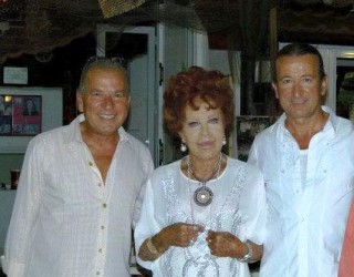 Silvana Pampanini con i fratelli Cigliano al Ristorante Duilio